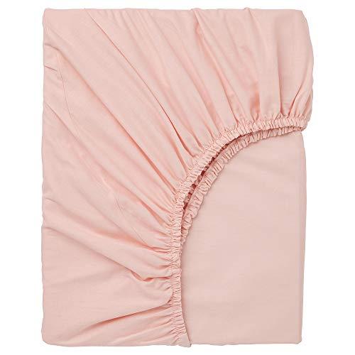 DVALA Sábana bajera ajustable 90x200 cm rosa claro