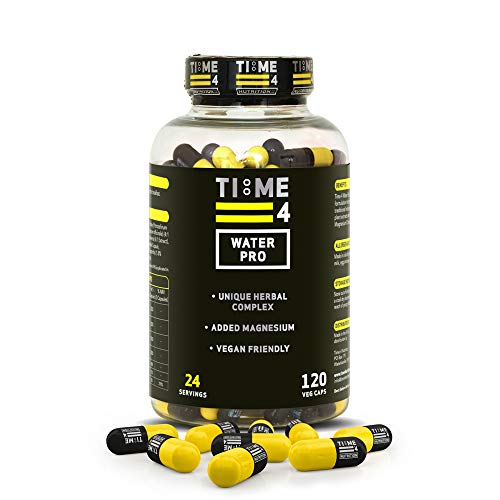 Time 4 Water Pro – 120 Caps of Water Capsules Not Water Tablets – Unique Herbal Complex Water Pills – Vegan Friendly Water Capsules