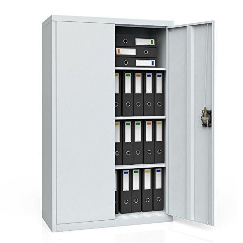 OSKAR Aktenschrank Büroschrank Werkzeugschrank Metallschrank Universal Stahl Schrank (85 x 140 x 39...