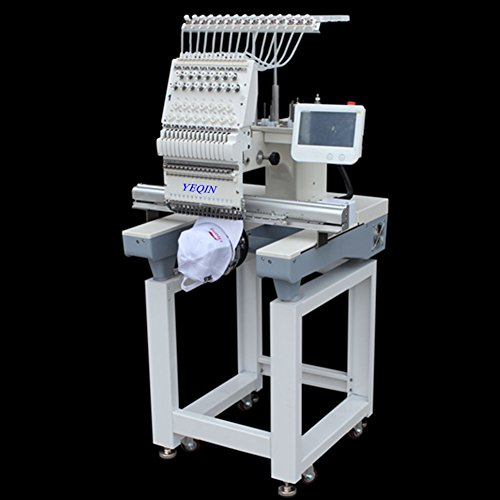 Sale!! YQ-1501 Automatic Single 15 Needle Computer Embroidery Machine Flat Embroidered Hat Embroider...
