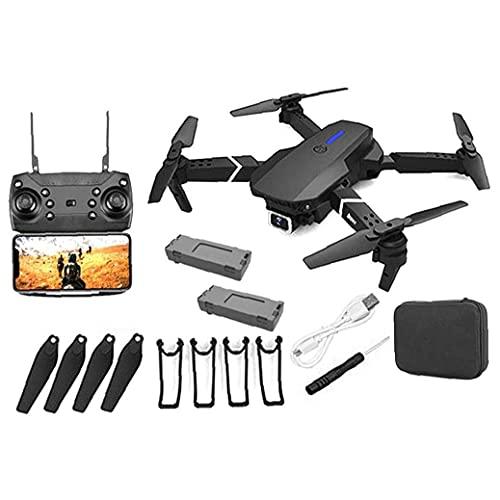 JJDSN Drone GPS E88 Drone GPS Pieghevole con videocamera 4K PRO per Adulti, quadricottero con Motore brushless, Borsa per Il Trasporto, Lungo Raggio di Controllo, Drone con Video in Diretta RC Qua