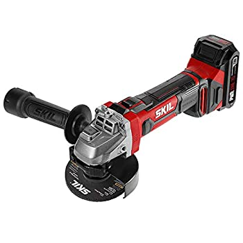 Skil - AG290202 SKIL 20V 4-1/2 Inch Angle Grinder Includes 2.0Ah PWRCore 20 Lithium Battery and Charger - AG2902-10