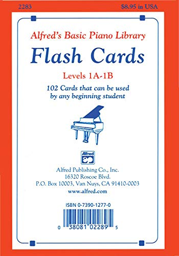 Alfred's Basic Piano Course Flash Cards: Levels 1a & 1b, Flash Cards: 102 Cards That Can Be Used by Any Beginning Student, Flash Cards (Alfred's Basic Piano Library)