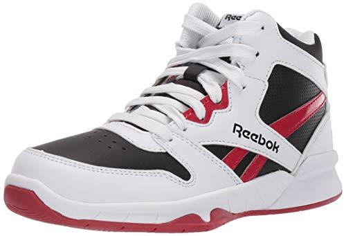 Reebok Boys BB4500 HI 2 Basketball Shoe, White/Black/Excellent red, 1 M US Big Kid