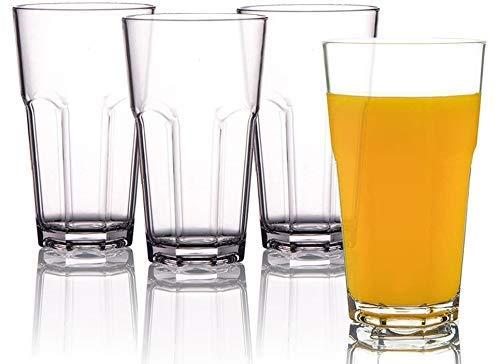 Ginoya Brothers Highball Lead-Free Glasses Crystal Clear Glasses