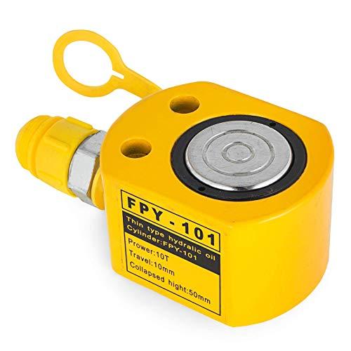 WYZXR 10T 0,43 Zoll Hydraulikzylinderheber Einfachwirkender Hydraulikzylinder 11 mm ultradünne hydraulische Hubzylinder