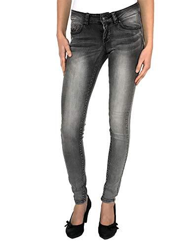 VERO MODA Damen VMFIVE LW S. Slim VI Jeans GU968 NOOS Jeanshose, Grau (Light Grey Denim), 32W / 32L