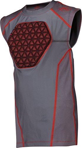 Rawlings Youth Protective Compression Shirt, Small, Graphite