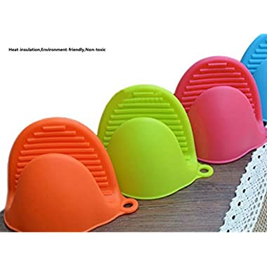 Taousa 70276 Silicone Pot Holder, Oven Mini Mitt, Cooking Pinch Grips, Kitchen Heat Resitant Solution, Set of 6 (3 pairs)