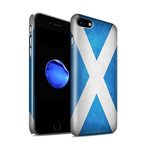 Glanzend telefoonhoesje voor Apple iPhone SE 2020 vlaggen Schotland/Schots ontwerp glanzend Ultra slank dun Hard Snap Cover