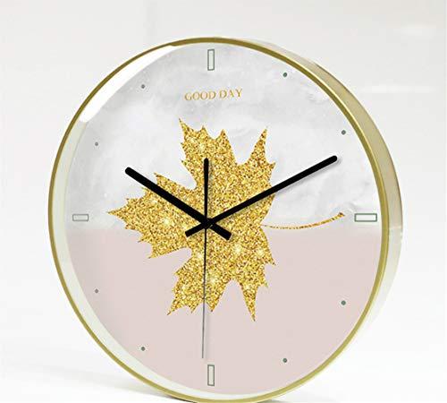 Reloj Salón, Reloj Vintage Silencioso Reloj de Decoración Reloj de Pared para Comedor Cocina,Sala de Estar Personalidad Creativa Moda Reloj Simple C 12 Pulgadas
