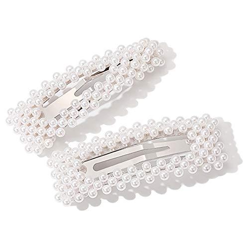 RainBabe Haarspangen Damen Perlen Haarnadeln Barrette Brautjunfer Braut Hochzeit Haarclip Braut Hochzeit Haarschmuck Set für Frauen Mädchen