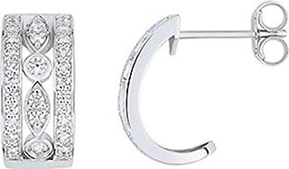 TEJA – Pendientes de aro 1/2 – oro blanco 375/00 y óxido – www.diamants.perles.com