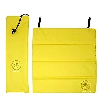 ZIGZAG ALLEYS Folding Foam seat pad Stadium bleacher seat Cushion pad Portable  Yellow2