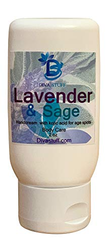 Lavender Sage Scented Hand Cream With Kojic Acid, By Diva Stuff