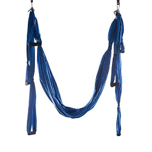 MOMIN Hamac de Yoga aérien Hamaca de Yoga Antena de Yoga Anti-Gravedad sin Estiramiento Columpio Hamaca Yoga Fitness Body (Color : Azul, tamaño : 245x140cm)
