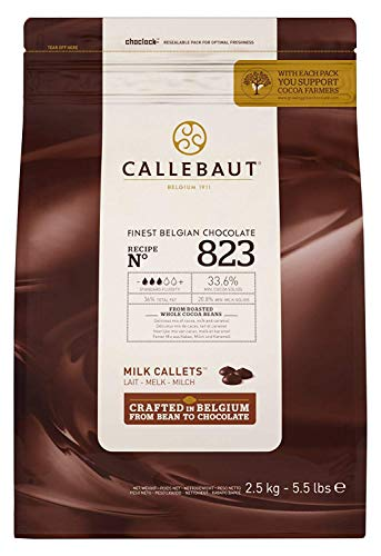 Callebaut Chocolate Milk 33.6 Percent Easi-Melt Buttons Callets 2.5 Kg