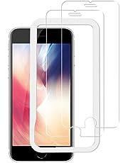 NIMASO ガラスフィルム iPhone SE 第2世代 用 iPhone8 7 6 6s 用 液晶 保護 フィルム ガイド枠 2枚セット NSP20E74