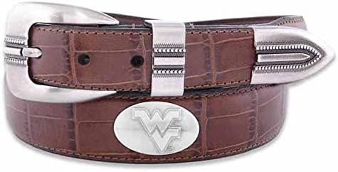 ZeppelinProducts Max 85% OFF WVU-BOLPTCRC-TAN-32 West Virginia Croc Concho T San Diego Mall