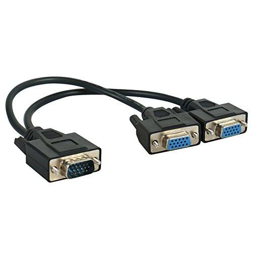 Hausbel VGA/XVGA Monitor Y Splitter HD15M/2XF (30 Centimeter / 1 Foot)