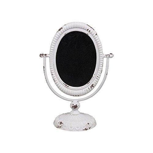 Chic Antique–Spiegel neigbar auf Fuß weiß Antik