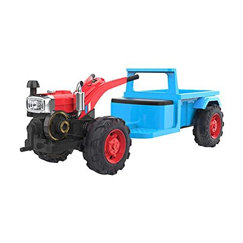 Trator Elétrico Com Reboque, Veículo Elétrico para Crianças con Assento Ajustável, Luces Y Sonidos Quadriciclo para Crianças Entre 3-6 Anos Carga De 50 Kg