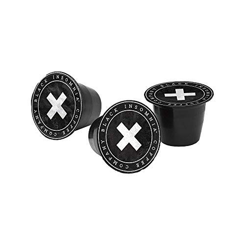 Black Insomnia Smooth Roast Coffee Pods - The Strongest Coffee in the World, Nespresso Compatible Coffee Pods, 100% Home Compostable x 20