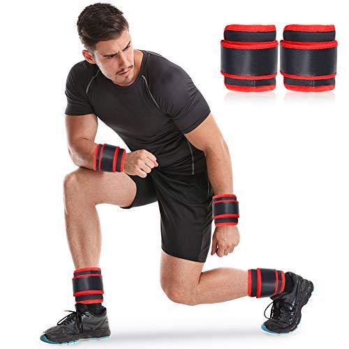 DOBEN Pesas de tobillo ajustables con bola de acero incorporada, para fitness, ejercicio, correr, gimnasia (1 kg)