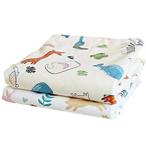 おむつ替えシート 2枚セット 綿100% 防水シーツ おむつ替えシート 防水 洗濯可 繰り返し利用可能 吸水性 通気性 出産祝い 赤ちゃん ギフト 70×50cm
