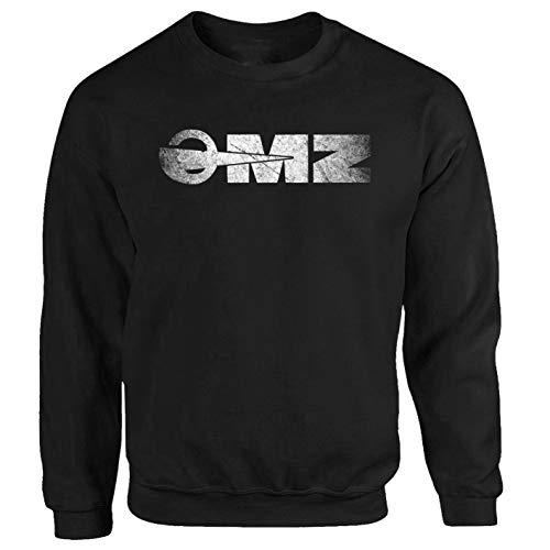 Tex-Ha MZ logo DDR motorfiets zwart sweatshirt trui