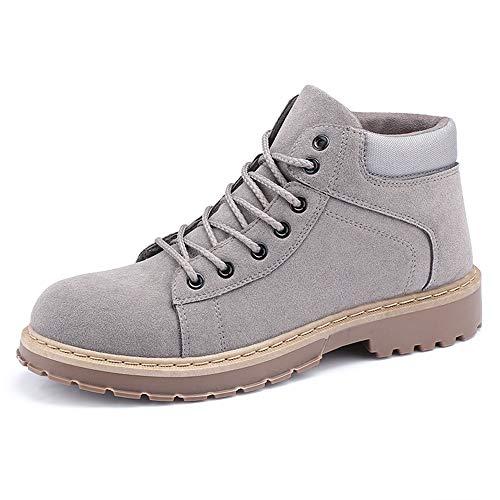 JCCOZ URG - Botas de invierno para hombre, estilo clásico británico, estilo británico, botas URG (color: gris, talla: 39 EU)