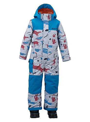Burton Jungen Minishred Striker One Piece Snowboardoverall, Big Bad Wolf/Mountaineer, 3T
