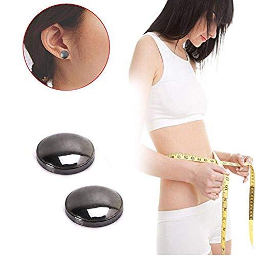 DEWIN Abnehmen-Ohrringe - Ohrringe für die Gesundheitsfürsorge, Gewichtsverlust Ohrringe, Stimulation Akupunktur Magnetfeldtherapie Ohr Nagel, zur Gewichtsreduktion, 1Paar