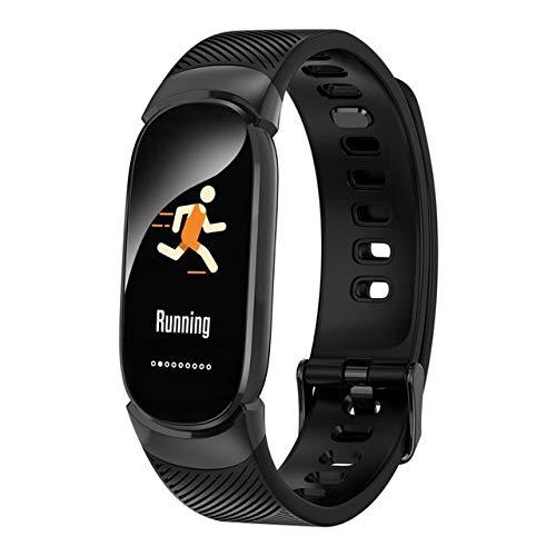 ZIQI Pulsera Deportiva, Reloj Inteligente Mujeres Deportes Impermeable Pulsera Inteligente Bluetooth Corazón Fitness Rastreador Hombres para iOS Android Metal Caso
