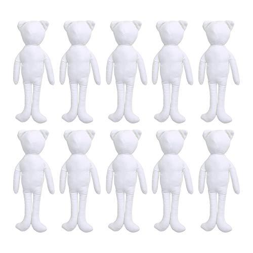 NBK ドールチャーム ベースボディ ねこタイプ ホワイト 13cm 10個入 P4-104-10