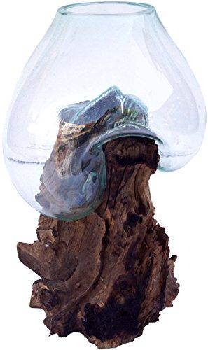 Guru-Shop Burl Houten Vaas - XXL M3, Bruin, 70x50x35 cm, Vazen Bloempotten
