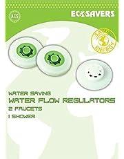 Set voor 2 kranen en 1 douche waterbesparende stroom regelaars EcoSavers