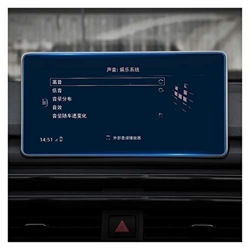 Zhbqcmou Pantalla de navegación de Cristal Templado de automóviles Etiqueta engomada LCD Accesorios Protector Pantalla Película para Audi A4 B9 A5 S4 S5 Q5 2017 2018 2019 HNZHB