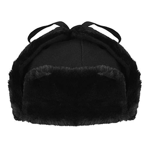 Kangol Wool Ushanka Bonnet, Noir, (Taille Fabricant: Medium) Mixte