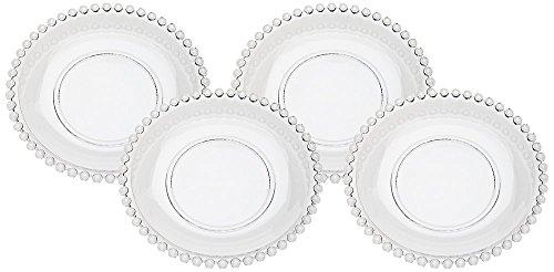 Godinger Chesterfield Glass Dessert Plates, Set of 4
