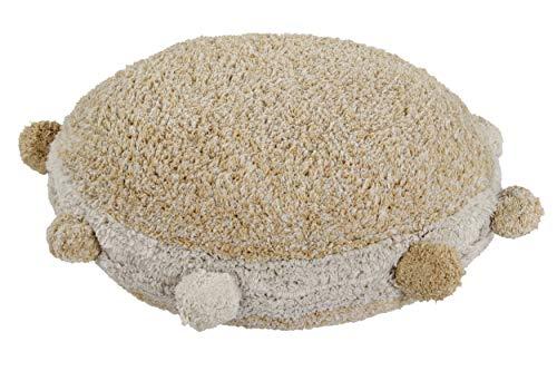 Lorena Canals - Cojín de Suelo Bubbly Honey - Miel, Natural - Cobertura: 97% algodón 3% Otras Fibras. Bolas de Relleno 100% poliestireno - Ø48x10 cm