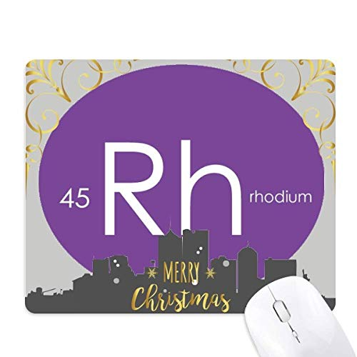la chimie des éléments tableau des métaux de transition, rhodium rh la nuit de noël, tapis de souris en caoutchouc