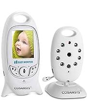 Babyphone mit Kamera Video Baby Monitor Gegensprechfunktion kabellos Digital Überwachungskamera (Schlafmodus, Nachtsicht, Temperatursensor, Schlaflieder)