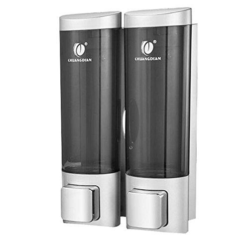 Dusche dispenser,Wandhalterung,Manueller soap-dispenser,Drei köpfe Home Hotel Badezimmer Gel-duschkabine Shampoo box-E