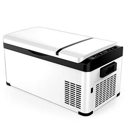 GAOXIAOMEI Refrigerador Portátil De 27 Cuartos (30 L), para Automóvil, Mini Neveras con Congelador De Doble Voltaje con Pantalla LCD, para Automóvil, Camping, Viajes Y Hogar, 12/24 V CC Y 220 V CA