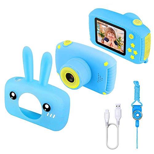 Yissma Digitale camera voor kinderen, 12 megapixels, 1080p videocamera, 2,0-inch scherm en 28 soorten schattige filters met USB-kabel, lanyard gebruikershandleiding