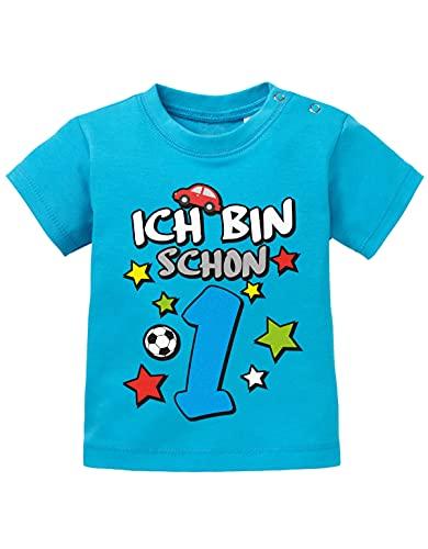 Jayess Shirt Ich Bin Schon 1 - Digital - Jungen - Baby T-Shirt in Blau by Jayess Gr. 92/98