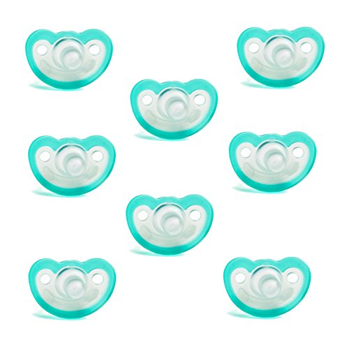 Razbaby JollyPop Baby Pacifier 3+ Months 8 Pack - Teal