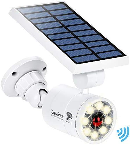 Solar Motion Sensor Lights Outdoor Aluminum 1400LM Warm White LED Spotlight 9 Watt 130W Equ product image