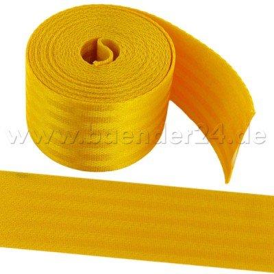 1m dunkelgelbes Sicherheitsgurtband aus Polyamid, 48mm breit, bis 2t belastbar